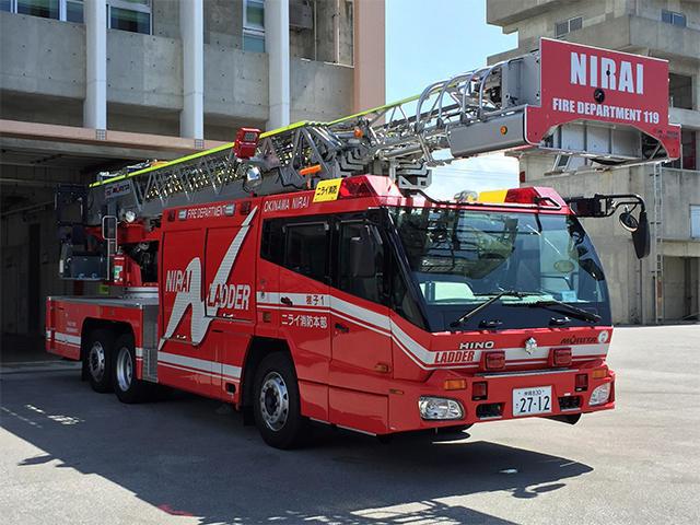 はしご付消防ポンプ自動車(直進式先端屈折型